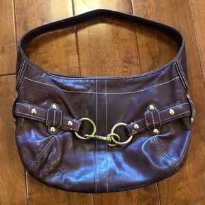 Coach Brown Leather Ergo Mini Hobo Bag